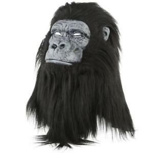 Image is loading NWT-Faux-Fur-Animated-Gorilla-Mouth-Mover-Mask-  sc 1 st  eBay & NWT Faux Fur Animated Gorilla Mouth Mover Mask Realistic Planet of ...