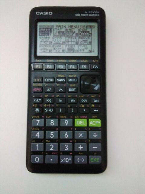 Casio fx-9750GIII Graphing Calculator Black Tested Works Algebra Calculus