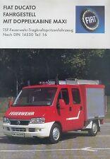 Fiat Ducato Feuerwehr TSF Tragkraftspritzenfahrzeug Prospekt 2003 fire truck