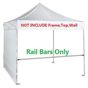 Support-Hardware-2pcs-Rail-Bar-for-10x10-Ez-Pop-Up-Canopy-Flea-Booth-W-Carry-Bag