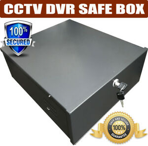 Metal-LOCKABLE-RECORDER-LOCK-BOX-SAFETY-BOX-CCTV-DVR-Safe-Security-Box-with-Fan