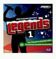 ZOOM KARAOKE CDG    LEGENDS VOLUME  1  CHRISTMAS FAVOURITES  1  DISC  25 TRACKS