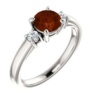 Genuine-6mm-0-85-tcw-Garnet-3-Stone-Gemstone-Ring
