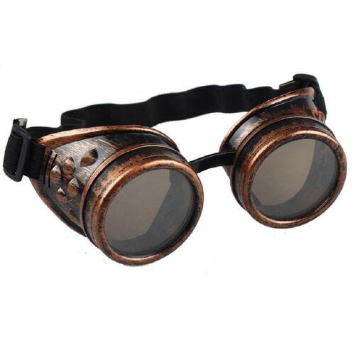 Paar Steampunk Brille Schweißerbrille Cyber Punk Cosplay Gothic Party KarnevalDE
