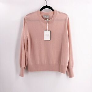 Everlane-100-Cashmere-Crew-Pink-Cozy-Pullover-Sweater-Size-XL-NWT