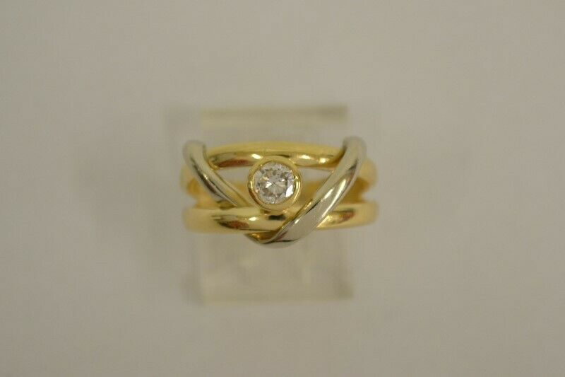 Lady's Diamond Engagement Ring .25 CT. 14K Yellow gold 6.6g Size 6 (FCO005690)