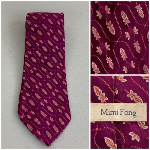 RARE Mimi Fong Textured Top-Tier Tie Purple - Very