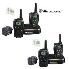 MIdland LXT500VP3 Two Way Radio Walkie Talkie Set 24 Mile Range 4 Pack w/ Cradle