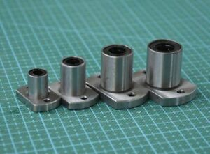 LMF6UU-40UU Round Flange Router Shaft Linear Bushing Bearings For 6-40mm Shaft