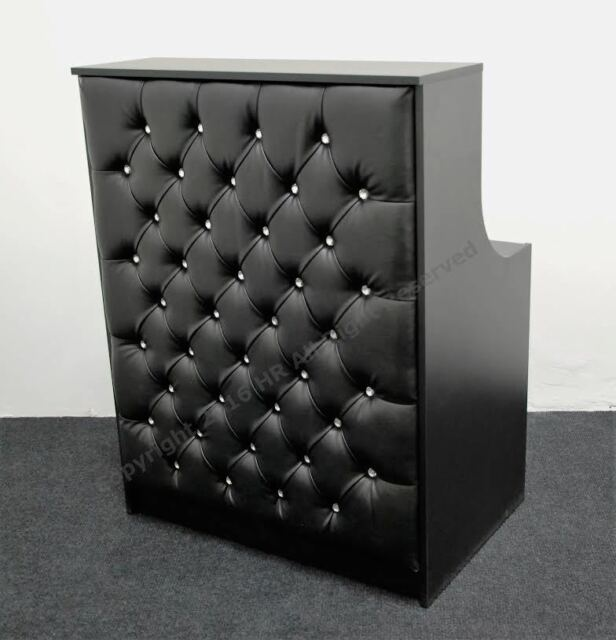 Salon Reception Desk In Black Padded Front New High Qualit Spa Beauty