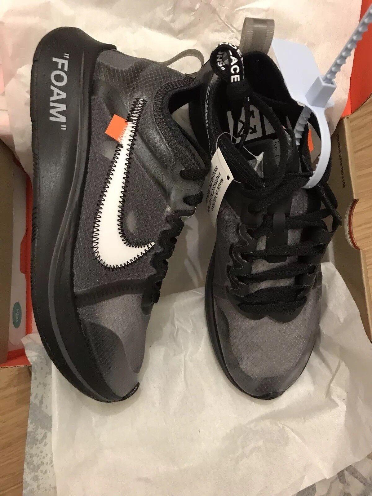 Nike X Off White Zoom Fly 'The Ten' Black   Grey UK 5.5 - US 6
