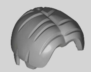 Lego Medium Stone Grey Hair x 1 Minifig Wig Bowl Cut Parted in Centre