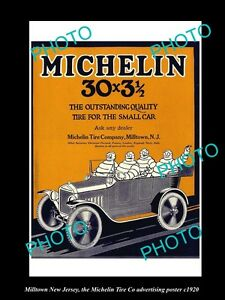 OLD-LARGE-HISTORIC-PHOTO-OF-MILLTOWN-NEW-JERSEY-THE-MICHELIN-TIRE-POSTER-c1920