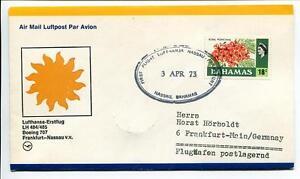 Bien Informé Ffc 1973 Lufthansa Primo Volo Lh 484/485 Boeing 707 - Nassau Bahamas Francoforte Gamme ComplèTe D'Articles