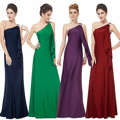 Ever-Pretty Long Evening Party Cocktail Gowns One Shoulder Party Dress 09463