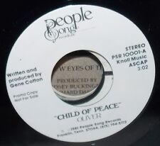 1981 OLIVER CHILD OF PEACE PEOPLE SONG PROMO 45 RECORD #PSR10001 NM