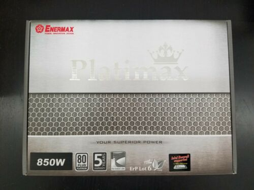 Enermax EPM850EWT Platimax 80 Plus Platinum 850w Fully Modular PSU Brand New