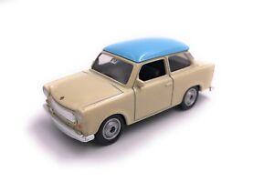Trabant-Trabant-modello-di-auto-auto-prodotto-con-licenza-1-60-Blu-Beige
