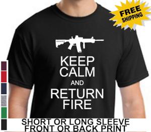 72534c3c738c48 2nd Amendment Keep Calm Return Fire Gun Right Mens Short Or Long ...