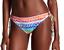 New La Blanca Spectrum Rainbow Colorful Loop Side Tie Hipster Bikini Bottoms