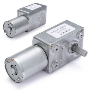 DC-12V-0-6RPM-High-torque-Turbo-Worm-Electric-Geared-Motor-GW370-Low-Speed-US