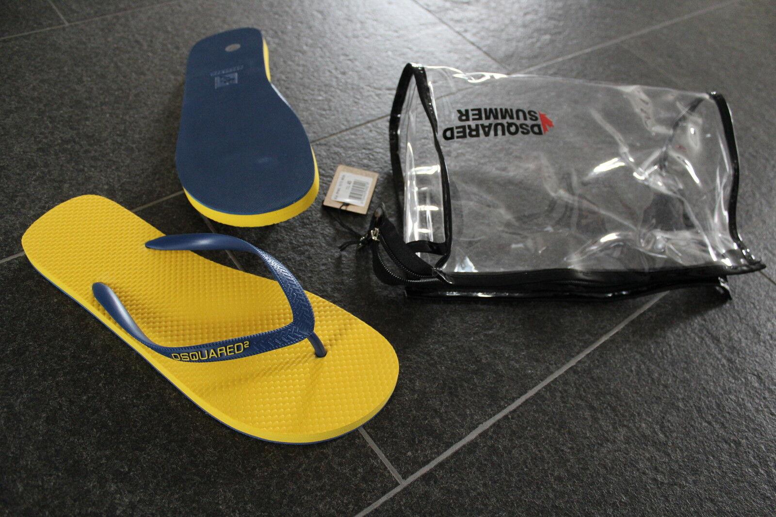 DSQUARED2 S/S 2015 SANDALEN Sandals SCHUHE 45 + KOSMETIKTASCHE very cool shoes
