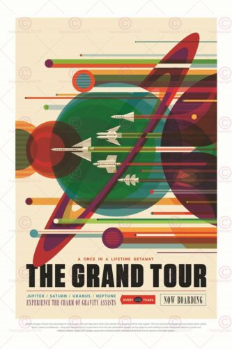 SPACE TOURISM SCIENCE FUN TRAVEL GRAND TOUR OUTER PLANETS POSTER PRINT LF1818