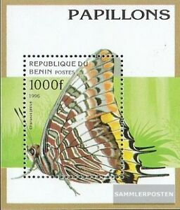 Unmounted Mint Never Hinged 1996 Butterflies Benin Block16 complete.issue.