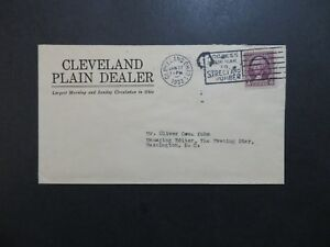 US-1933-Cleveland-Plain-Dealer-Newspaper-Cacheted-Cover-Z9126