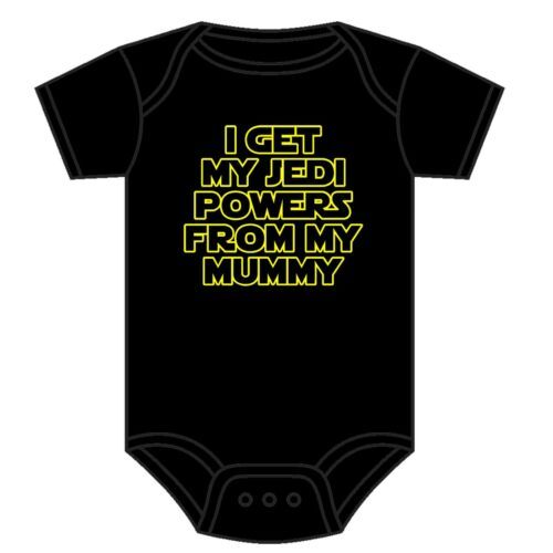 Star Wars Babygrow I get my Jedi puissances de MA MOMIE Asst Couleurs 0-18 Mois