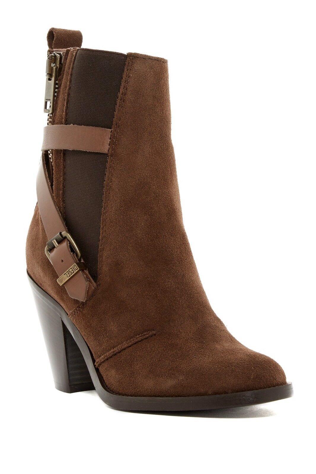 New Women's Diesel Kinley Boot Dark Brown Size 40 MSRP
