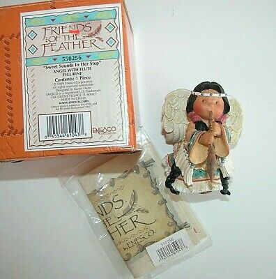 NEW Friends of the Feather Sweat Sounds in Her Step Angel Flute Figurine Enesco