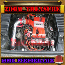 RED 1984-1988/84-88 PONTIAC FIERO 2.8L V6 WITHOUT CRUISE CONTROL AIR INTAKE KIT