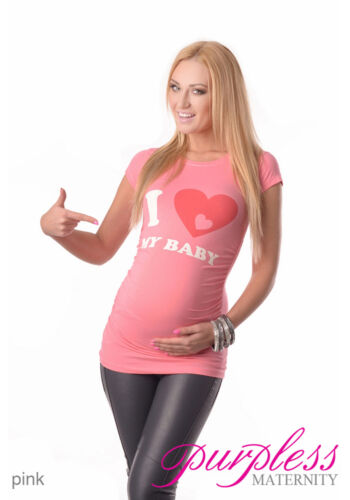 Adorable Slogan Cotton Printed Maternity Pregnancy Top T-shirt 2005d Love baby