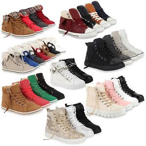 d85dd71d58a45c Das Bild wird geladen High-Top-Sneakers-Damen-Schnuerer-Sportschuhe-890468- Schuhe