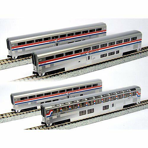 Spur N - Kato Set Superliner Amtrak Phase III -- 106-3518 NEU