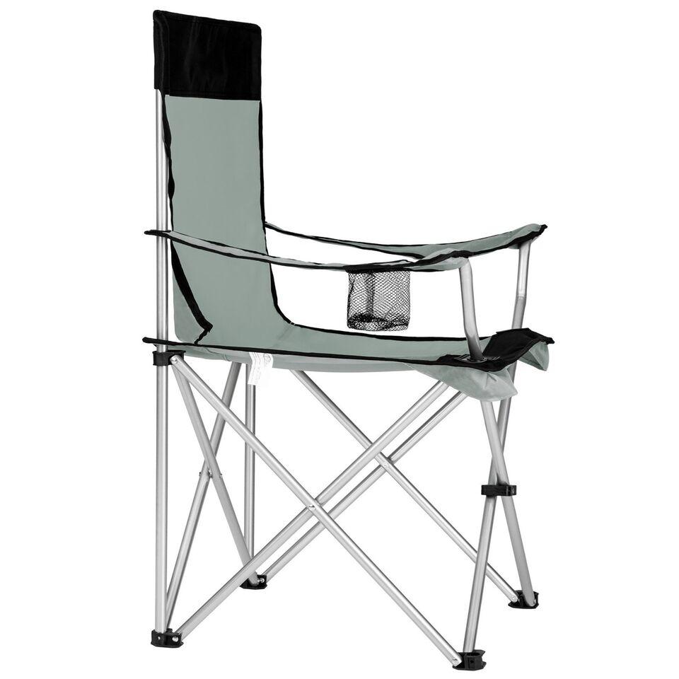 6 Campingstole enkelt grå