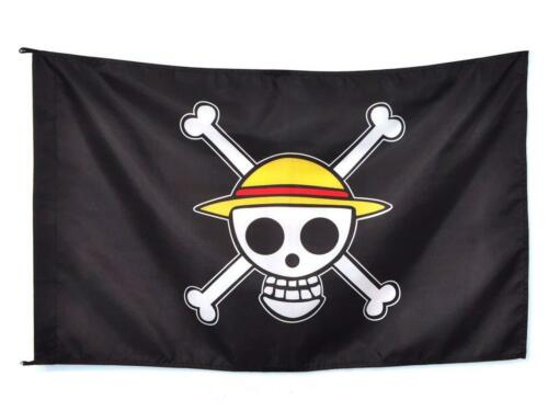 One Piece Monkey·D·Luffy Logo Going Merry Flag Straw Hat Skull Pirate Chic Gift