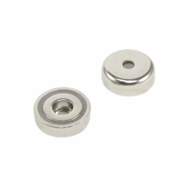 25mm Dia X 8mm X 5,5 Mm Controbore Neodymium Pot Magnete - 20kg Pull (4)