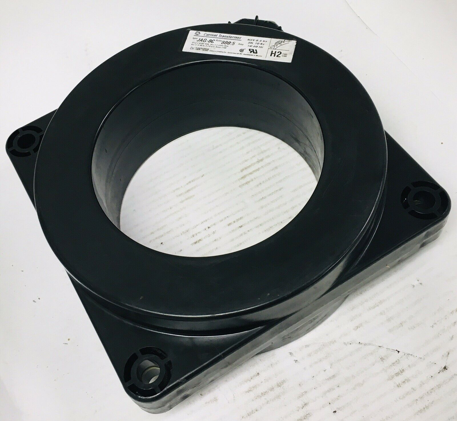 Details about  /GE Type JCT-0C 800:5 Amps 750X123208 10 kV Current Transformer