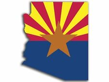 ARIZONA SHAPED State Flag Sticker (shape phoenix car az decal)  2.5""