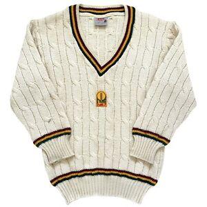 Silver-Fleece-Tasmania-1991-95-Sheffield-Shield-Cricket-Player-Issue-L-S-Sweater