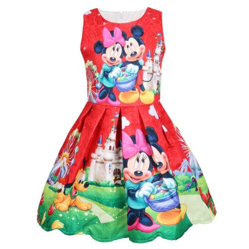 Minnie Mouse Enfants Fille Robe casual Princesse Vêtements De Fête d/'anniversaire robes vêtements
