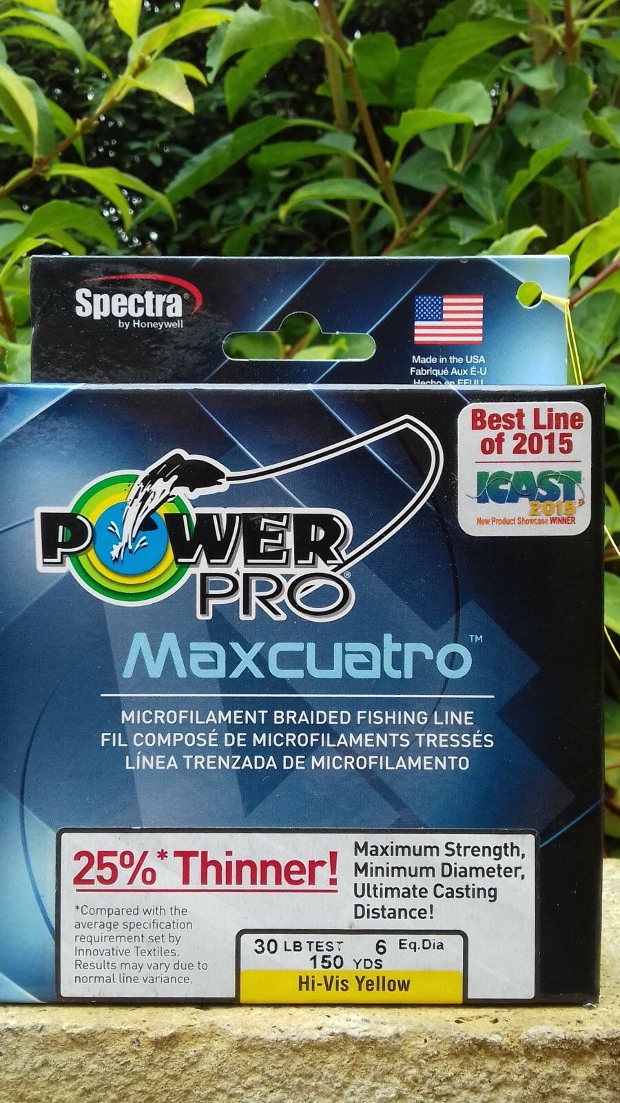 POWERPRO MAXCUATRO BRAID HI-VIZ YELLOW 30Ib 150 yds PIKE CATFISH POWER PRO