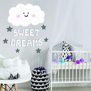 Kawaii Cloud Quote Children S Kids Bedroom Wall Sticker Vinyl