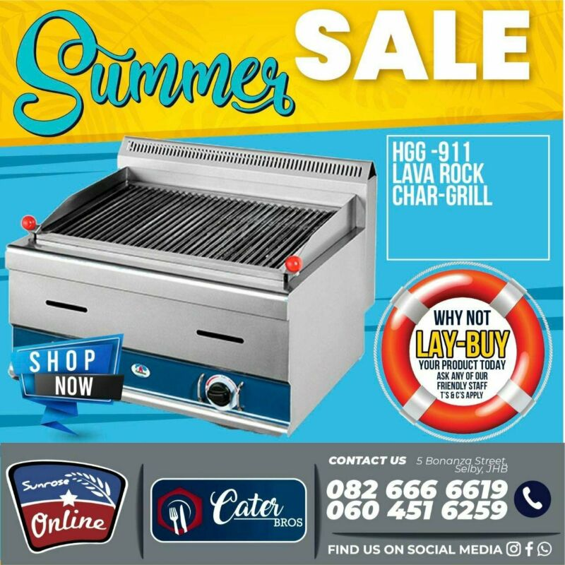 GAS GRILL – GAS CHAR GRILL – CHAR GRILL – GAS BBQ WITH LAVA ROCKS AND GRIDDLE – LAVA ROCK GAS GRILL