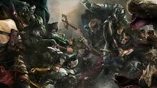 Injustice 2 Catwoman Batman Cyborg Flash Silk Poster/Wallpaper 24 X 13 inches