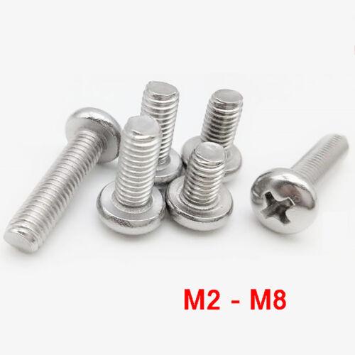 M2M2.5M3M4M5M6M8 Linsenschrauben mit Kreuz A4 316 Edelstahl Linsenkopf-Schrauben