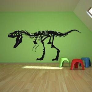 T-Rex-skelet Muursticker Fossiele dinosaurus Muurtattoo Kinderen ...