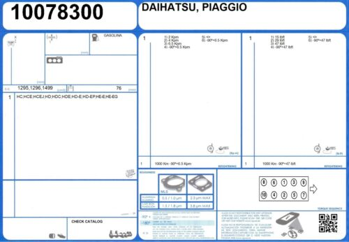 OEM genuino AJUSA reemplazo Completo Motor reconstruir Juego de juntas 50120700